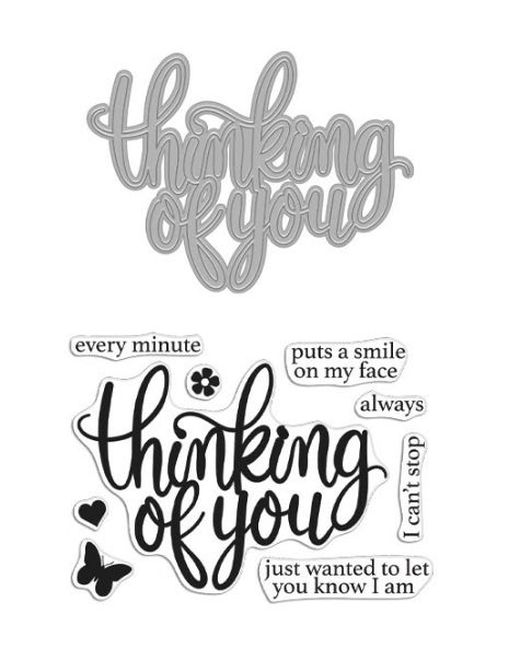 Hero Arts Stamp And Cuts THINKING OF YOU Coordinating Set DC273 zoom image