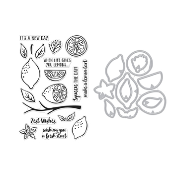 Hero Arts Color Layering ZEST WISHES CLEAR STAMP AND DIE COMBO SB252
