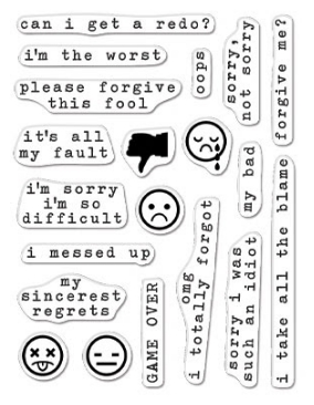 Hero Arts Clear Stamps GREETINGS MY BAD MESSAGES CM426 Preview Image