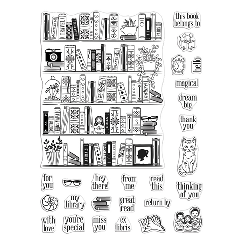 Hero Arts Clear Stamps BOOKCASE PEEK A BOO PARTS CM425 Preview Image