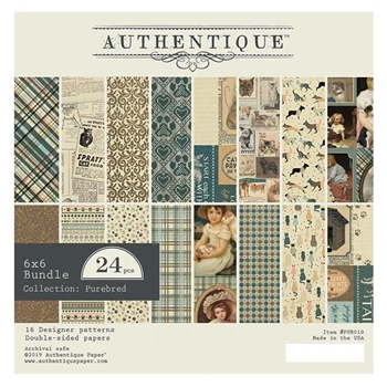 Authentique 6 x 6 PUREBRED Paper Pad pur010