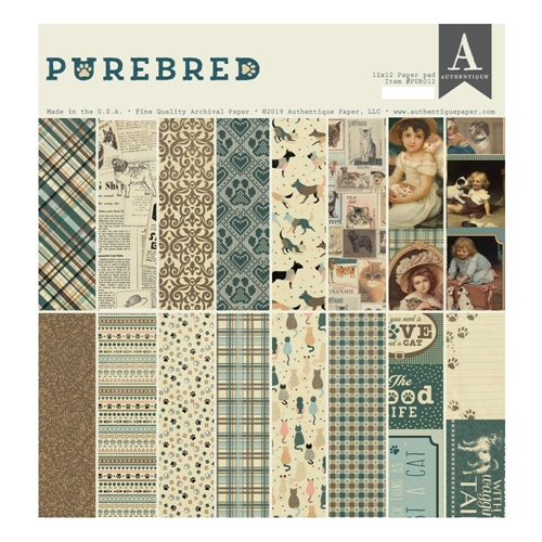 Authentique PUREBRED 12 x 12 Paper Pad pur012 Preview Image