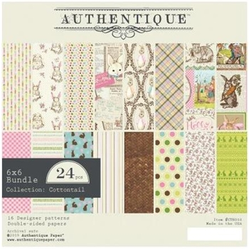 Authentique 6 x 6 COTTONTAIL Paper Pad ctn010