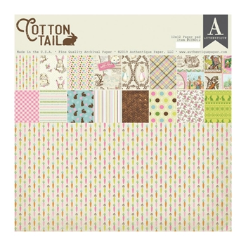 Authentique COTTONTAIL 12 x 12 Paper Pad ctn012