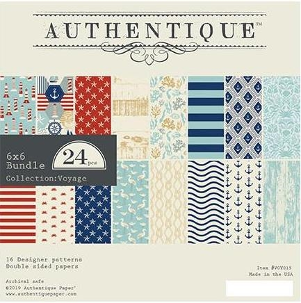 Authentique 6 x 6 VOYAGE Paper Pad voy015 Preview Image