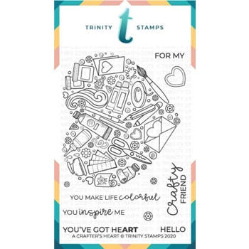 Trinity Stamps A CRAFTER'S HEART Clear Stamp Set tps031