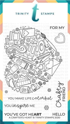 Trinity Stamps A CRAFTER'S HEART Clear Stamp Set tps031 zoom image