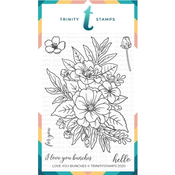 Trinity Stamps LOVE YOU BUNCHES Clear Stamp Set tps029