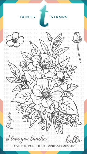 Trinity Stamps LOVE YOU BUNCHES Clear Stamp Set tps029 zoom image