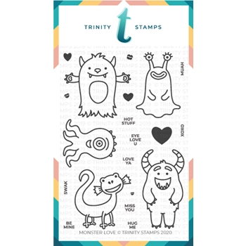 Trinity Stamps MONSTER LOVE Clear Stamp Set tps-030