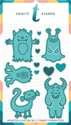Trinity Stamps MONSTER LOVE Die Set tmdc30 Preview Image