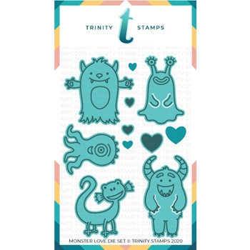 Trinity Stamps MONSTER LOVE Die Set tmdc30