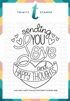 Trinity Stamps LOVE AND HAPPY THOUGHTS Clear Stamp Set tps0025
