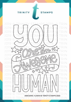 Trinity Stamps AWESOME HUMAN Clear Stamp Set tps0024 zoom image