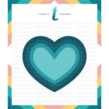 Trinity Stamps NESTED HEARTS Die Set tmd016