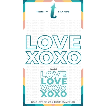 Trinity Stamps BOLD LOVE Die Set tmd012