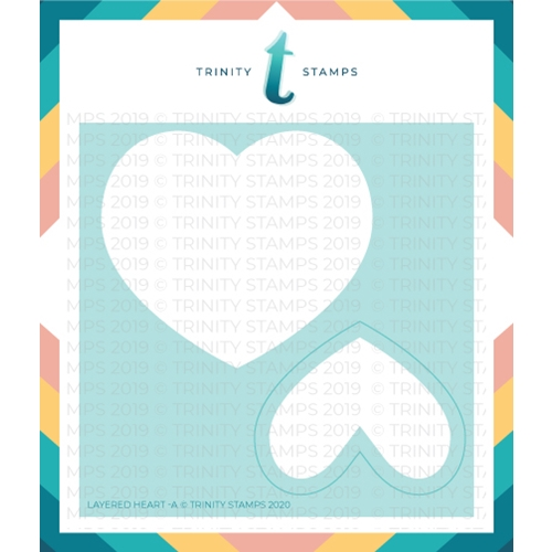 Trinity Stamps LAYERED HEART 6 x 6 Stencil Set of 2 tss006* Preview Image