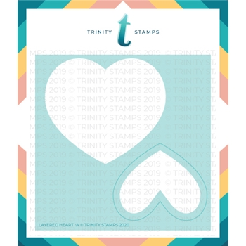 Trinity Stamps LAYERED HEART 6 x 6 Stencil Set of 2 tss006