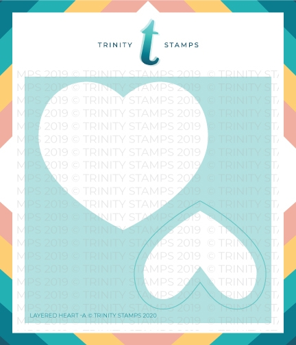 Trinity Stamps LAYERED HEART 6 x 6 Stencil Set of 2 tss006* zoom image