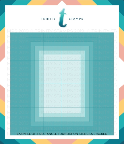 Trinity Stamps A2 FOUNDATIONS RECTANGLE 6 x 6 Stencil Set of 4 tss008 zoom image