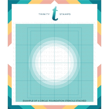 Trinity Stamps A2 FOUNDATIONS CIRCLE 6 x 6 Stencil Set of 4 tss009