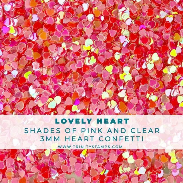 Trinity Stamps LOVELY HEART CONFETTI Embellishment Box tzb094 zoom image