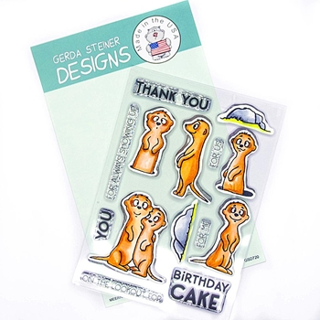 Gerda Steiner Designs MEERKATS ON THE LOOKOUT Clear Stamp Set gsd720
