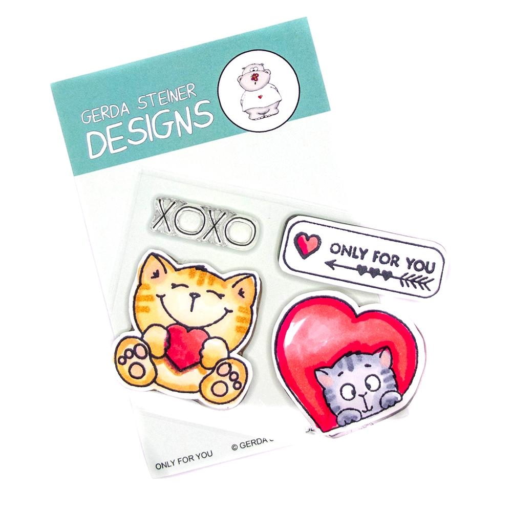 Gerda Steiner Designs ONLY FOR YOU Clear Stamp Set gsd717 zoom image