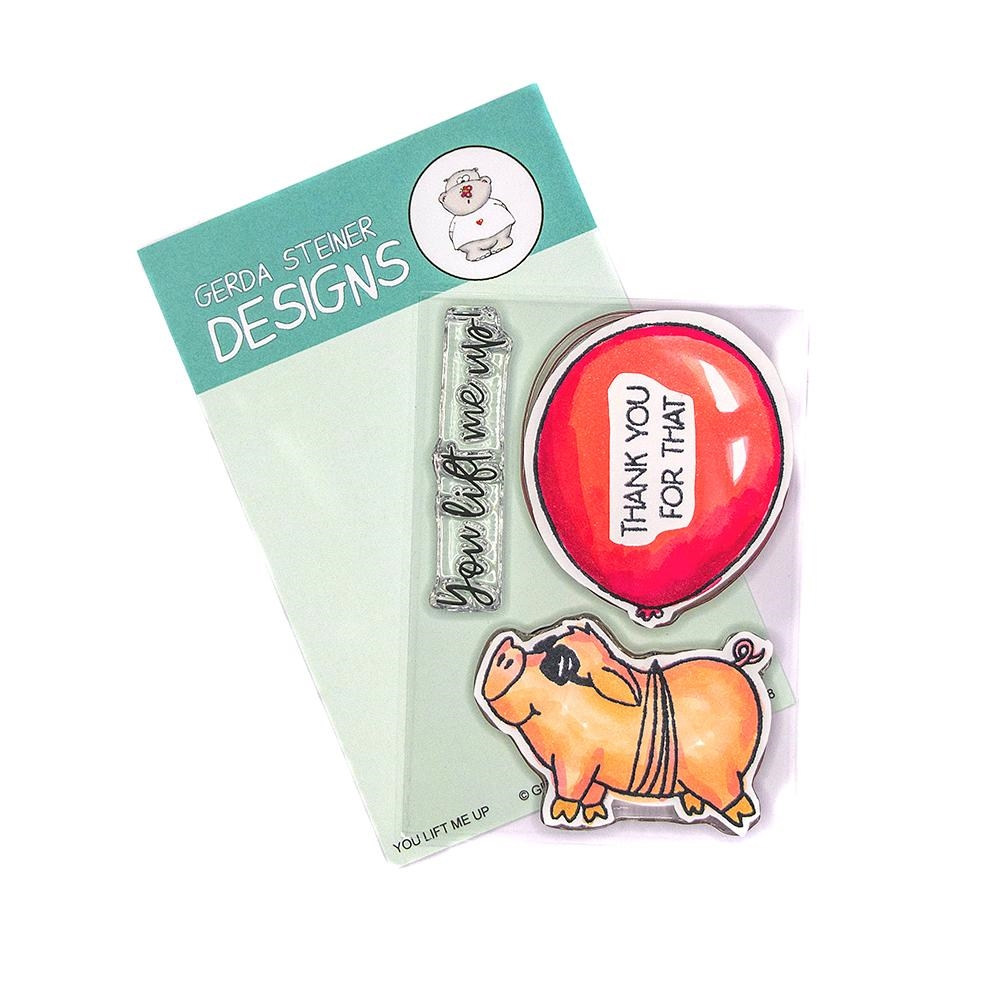 Gerda Steiner Designs YOU LIFT ME UP Clear Stamp Set gsd718 zoom image