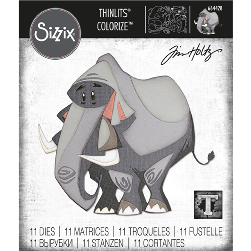 Tim Holtz Sizzix CLARENCE Colorize Thinlits Dies 664428 Preview Image