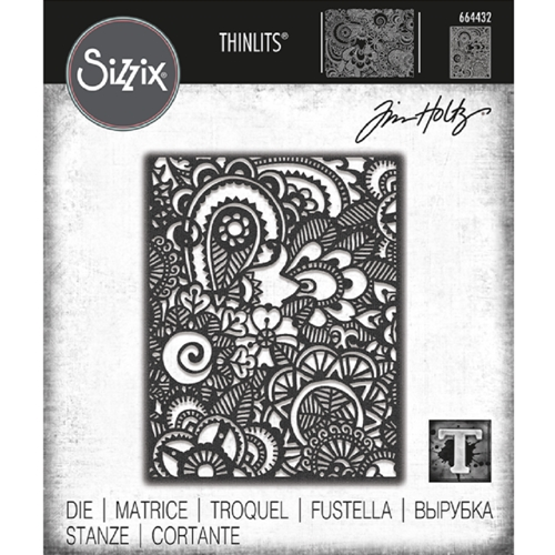 Tim Holtz Sizzix DOODLE ART 2 Thinlits Die 664432 Preview Image