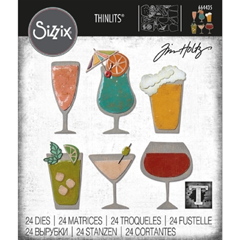 RESERVE Tim Holtz Sizzix HAPPY HOUR Thinlits Die 664435