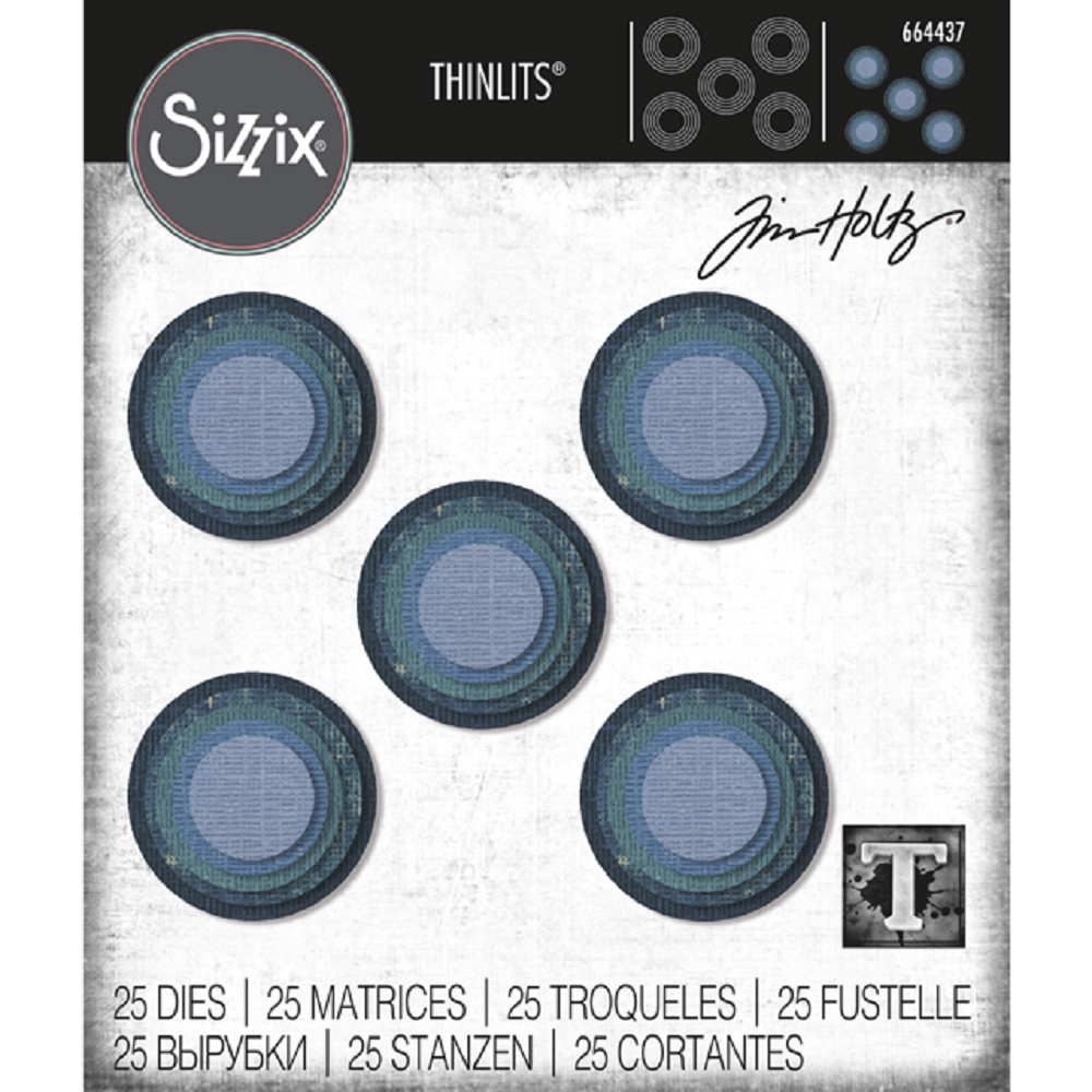 Tim Holtz Sizzix STACKED CIRCLES Thinlits Die 664437 zoom image
