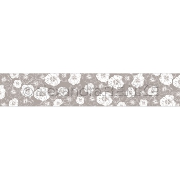 Alexandra Renke GREY FLOWERS Washi Tape wtarfl0026