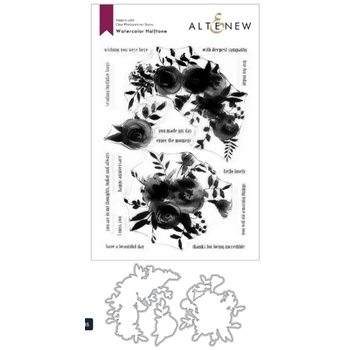 Altenew WATERCOLOR HALFTONE Clear Stamp and Die Bundle ALT3779