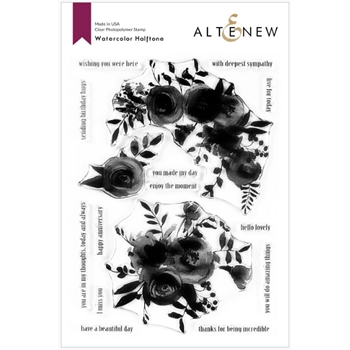 Altenew WATERCOLOR HALFTONE Clear Stamps ALT3777*