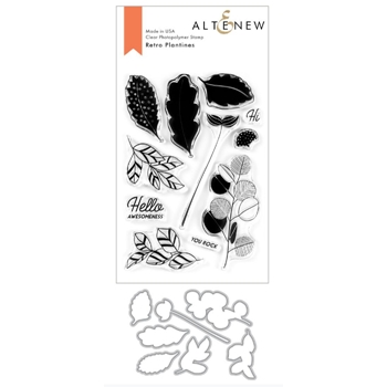 Altenew RETRO PLANTINES Clear Stamp and Die Bundle ALT3769