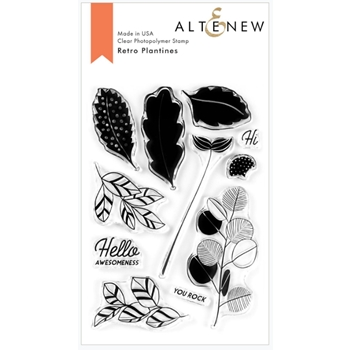 Altenew RETRO PLANTINES Clear Stamps ALT3767