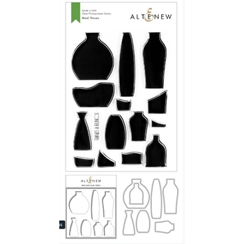 Altenew MOD VASES Clear Stamp, Die and Masked Stencil Bundle ALT3766