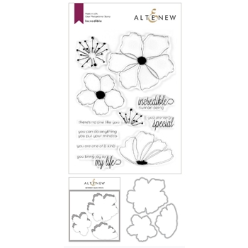 Altenew INCREDIBLE Clear Stamp, Die and Masking Stencil Bundle ALT3761