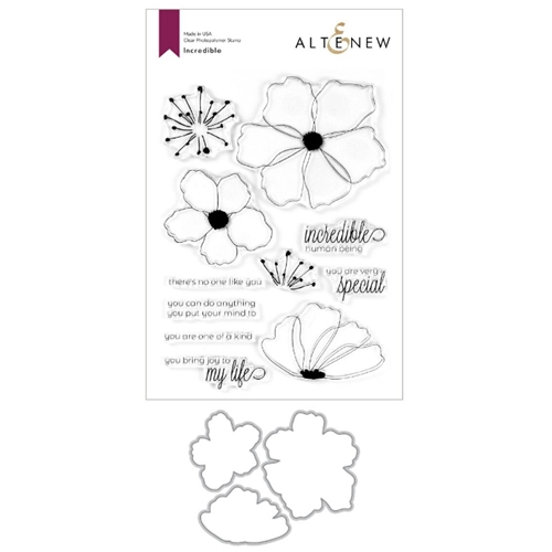 Altenew INCREDIBLE Clear Stamp and Die Bundle ALT3760 Preview Image