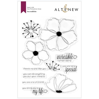 Altenew INCREDIBLE Clear Stamps ALT3757