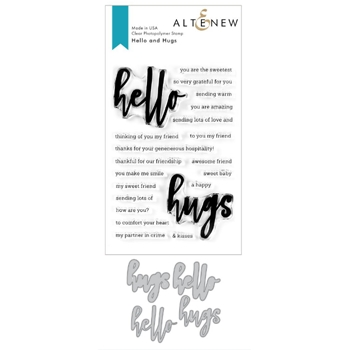 Altenew HELLO AND HUGS Clear Stamp and Die Bundle ALT3756
