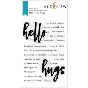 Altenew HELLO AND HUGS Clear Stamps ALT3754