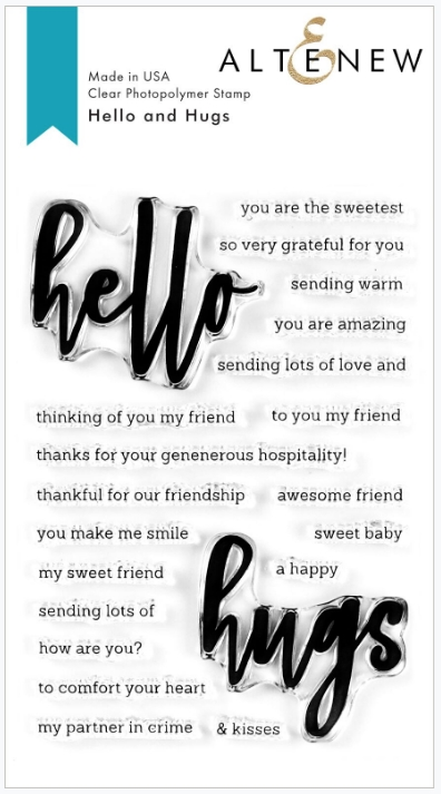Altenew HELLO AND HUGS Clear Stamps ALT3754 zoom image