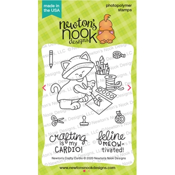Newton's Nook Designs NEWTON'S CRAFTY CARDIO Clear Stamps NN2001S05