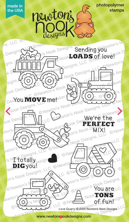 Newton's Nook Designs LOVE QUARRY Clear Stamps NN2001S02 zoom image