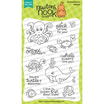 Newton's Nook Designs TIDES OF LOVE Clear Stamps NN2001S03