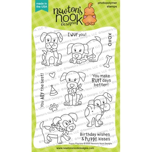 Newton's Nook Designs PUPPY PLAYTIME Clear Stamps NN2001S01 Preview Image