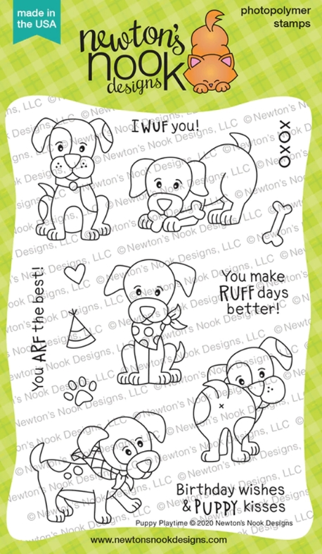 Newton's Nook Designs PUPPY PLAYTIME Clear Stamps NN2001S01 zoom image